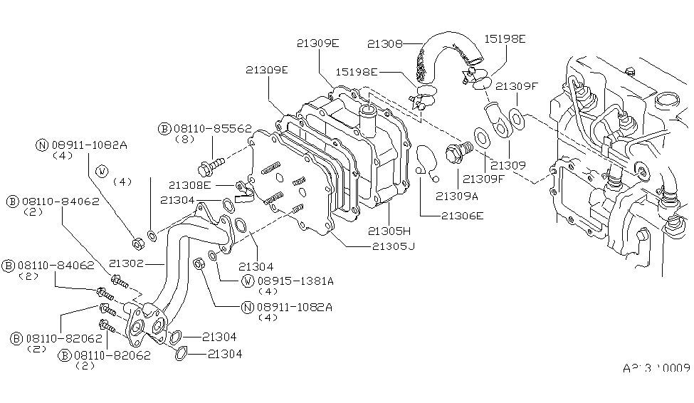 1986 Nissan 720 Pickup Oil Cooler - Nissan Parts Deal