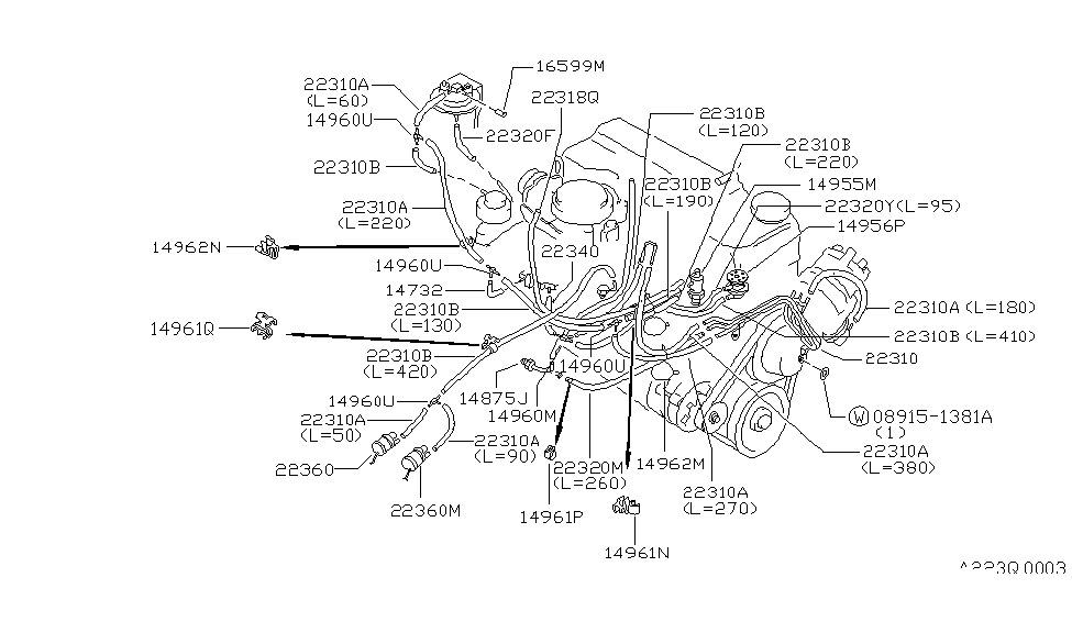 1984 nissan 720 pickup engine control vacuum piping rh nissanpartsdeal com L20B Engine Ford C4 Trans L20B Engine Craigslist