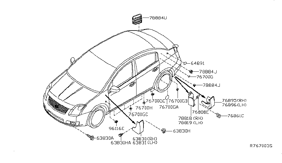 Nissan Sentra Body Parts Diagram