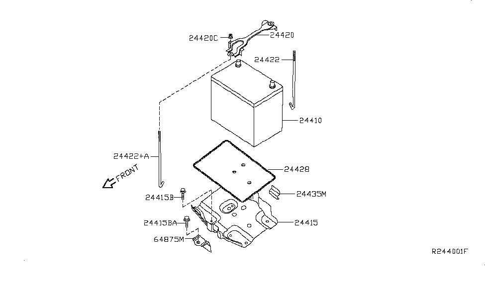 24410-et00b | genuine nissan #24410et00b battery nissan parts diagram battery nissan wiring diagram and body electrical parts schematic #14