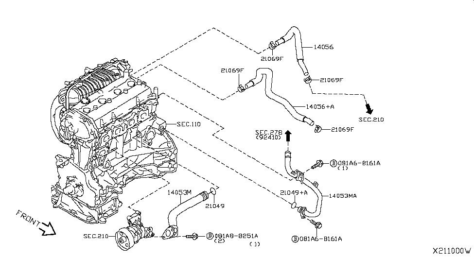 2009 Nissan Sentra Water Hose & Piping - Nissan Parts Deal