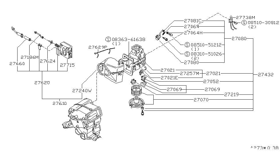 datsun 280zx engine diagram 1977 datsun 280z engine compartment wiring diagram 27170-p7100 | genuine nissan #27170p7100 motor-w/fan #4