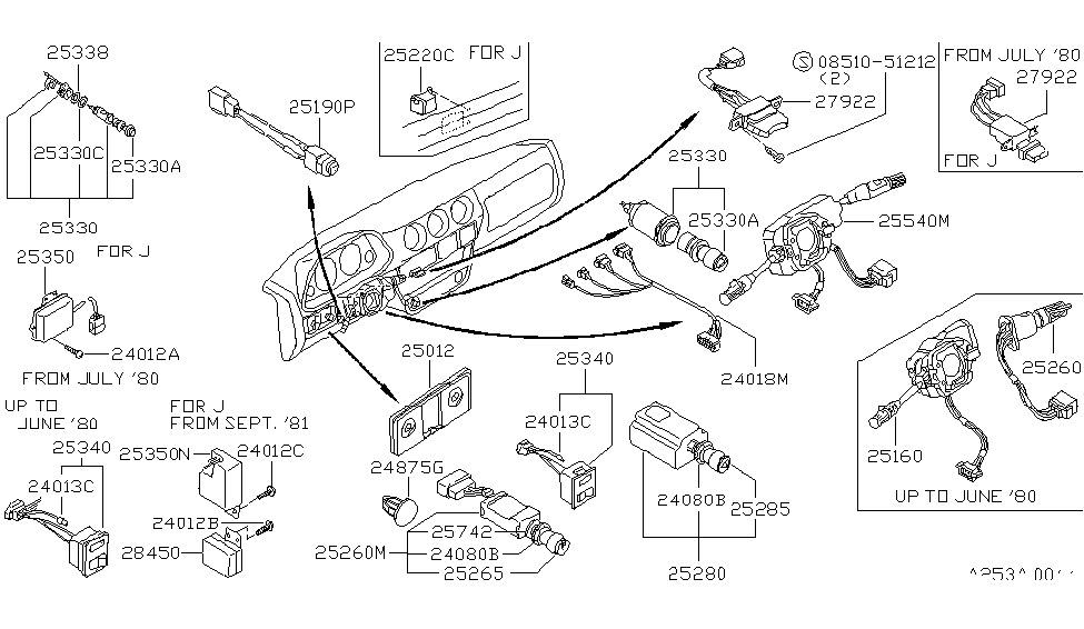 1981 nissan 280zx electrical unit