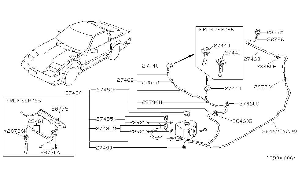1985 nissan 300zx windshield washer nissan parts deal rh nissanpartsdeal com 1985 nissan 300zx radio wiring diagram 300ZX Oil Harness