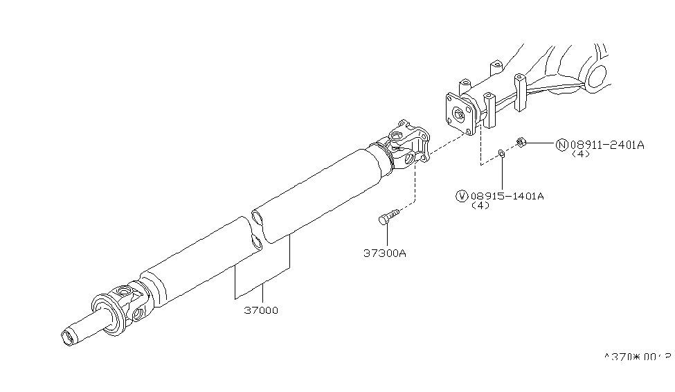 1987 Nissan 300zx Propeller Shaft