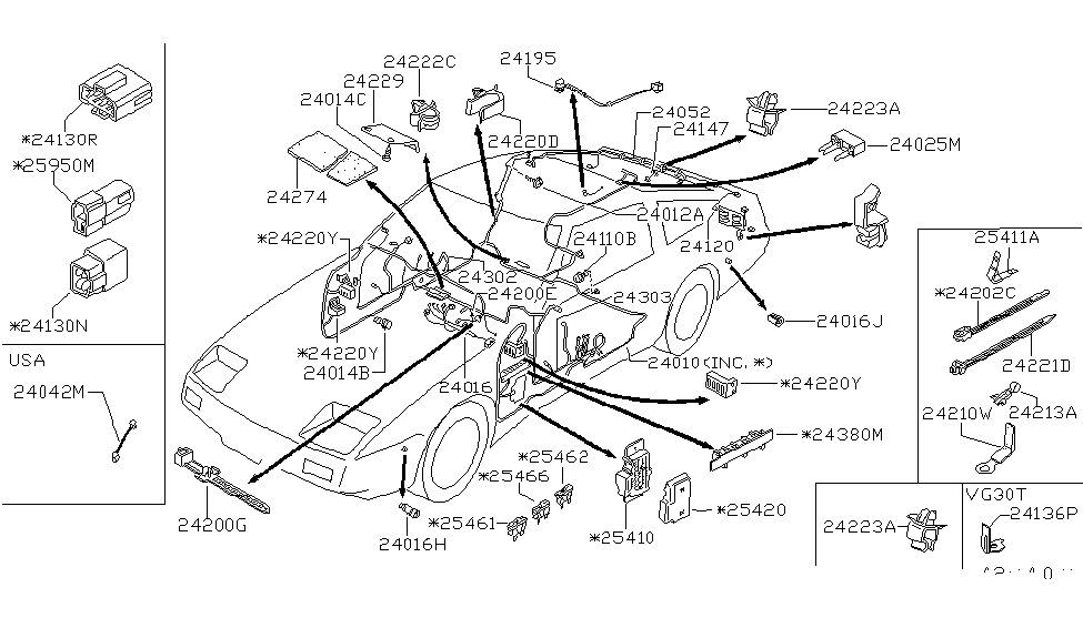 1985 Nissan 300zx Wiring  Body
