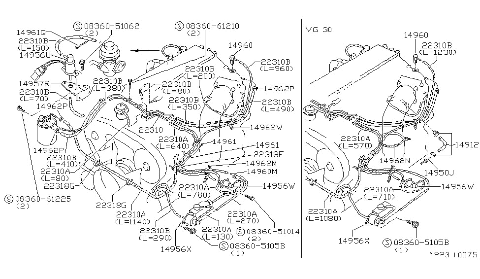 14962-01p00 | genuine nissan #1496201p00 clamp-hose 300zx vacuum diagram