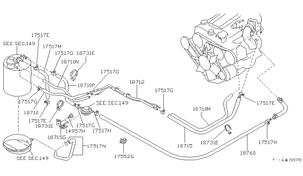 1984 nissan 300zx emission control piping