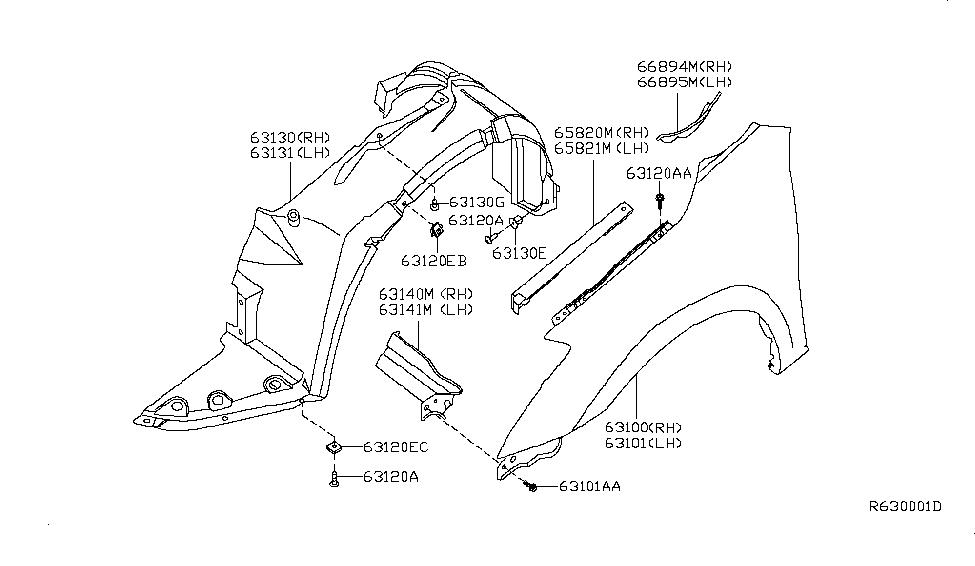 63840ZX00A  Genuine    Nissan       Parts