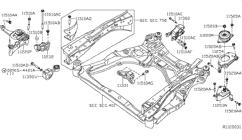 2009 nissan altima sedan engine transmission mounting rh nissanpartsdeal com 2007 Nissan Altima Relay Diagram 2009 nissan altima 2.5 engine diagram