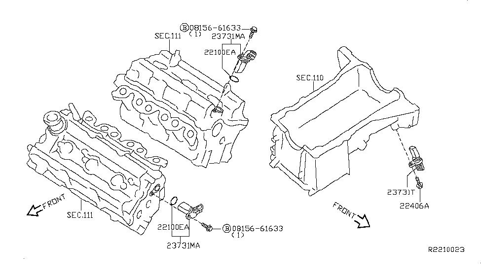 2010 Nissan Altima Sedan Distributor & Ignition Timing SensorGenuine Nissan Parts