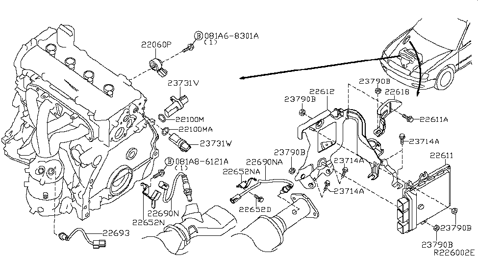 226a0 ja10c genuine nissan parts rh nissanpartsdeal com 1998 Nissan Altima Parts Diagram 2009 Nissan Altima Parts Diagram