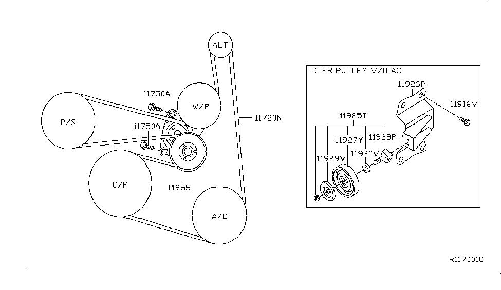 2013 Nissan Altima Serpentine Belt Diagram