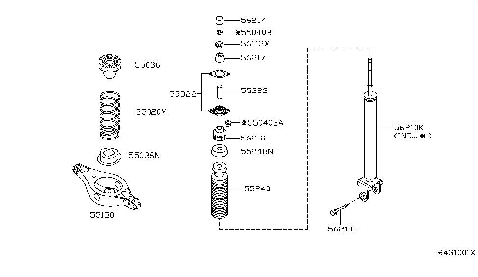 2007 nissan altima sedan rear suspension nissan parts deal  2007 nissan altima parts diagram #5