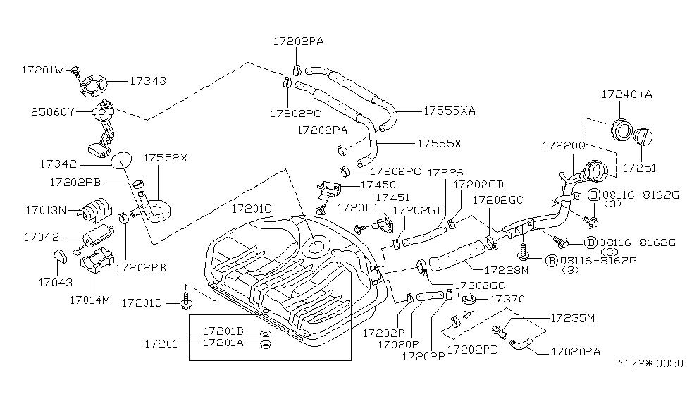 1994 Nissan Sentra Fuel Tank