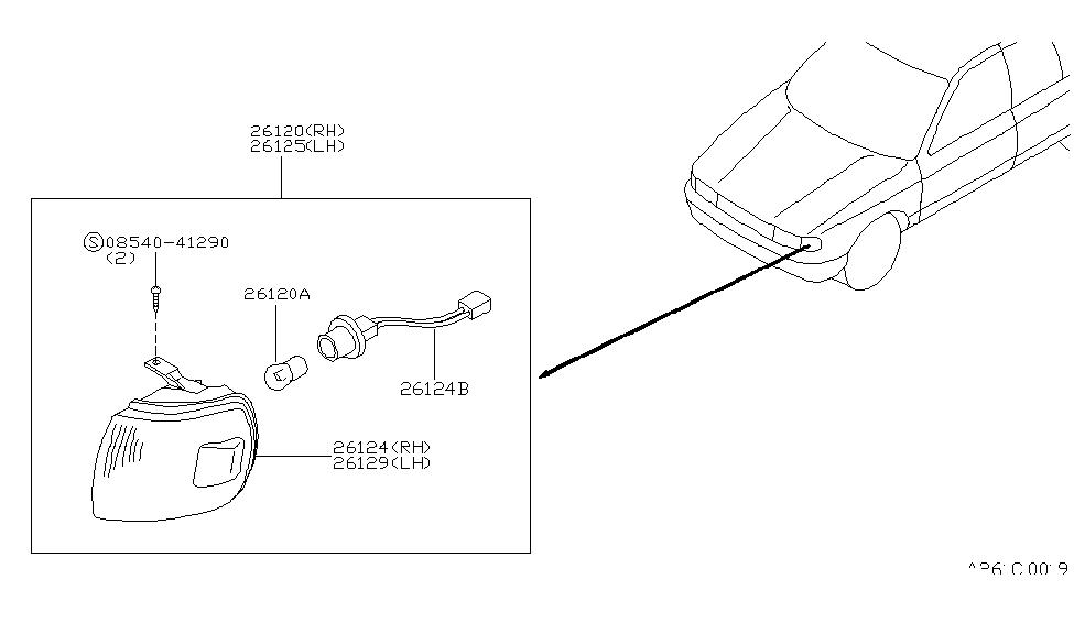 1994 Nissan Sentra Front Combination Lamp - Nissan Parts Deal