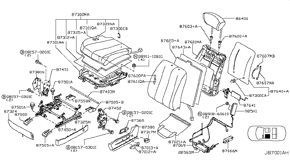 87450 ca66a genuine nissan parts Pin Out Diagram 2005 nissan murano front seat