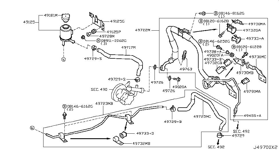 49720-CA000 - Genuine Nissan Parts