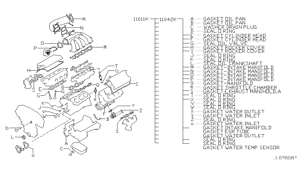 2003 Nissan Murano Engine Gasket Kit