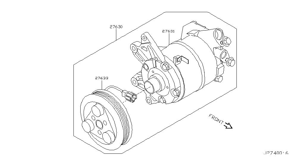 2003 Nissan Murano Compressor - Nissan Parts Deal