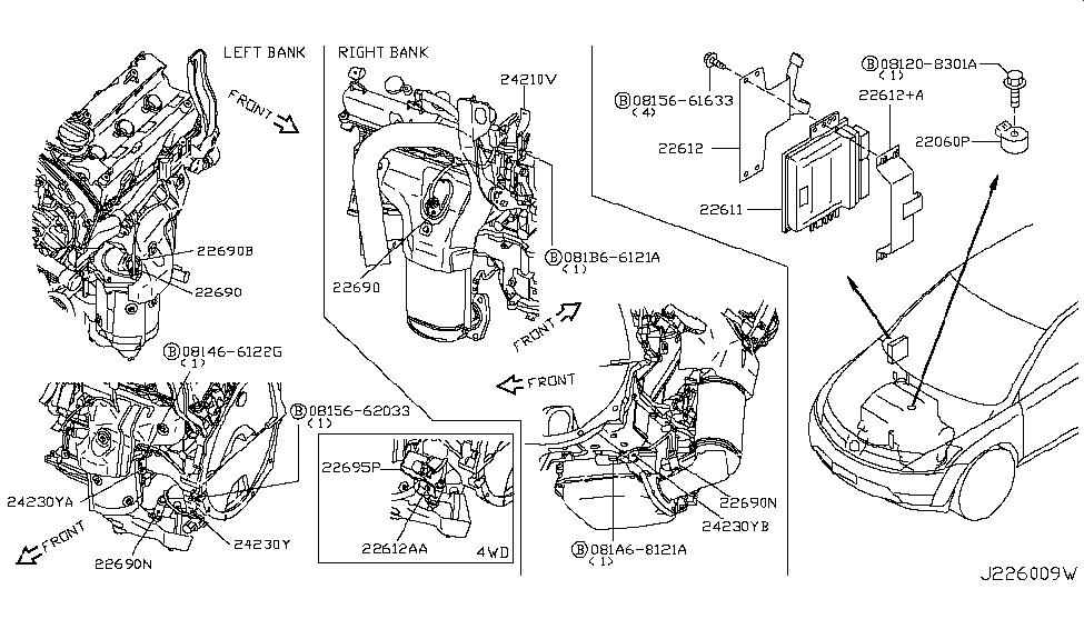 2004 nissan murano engine control module