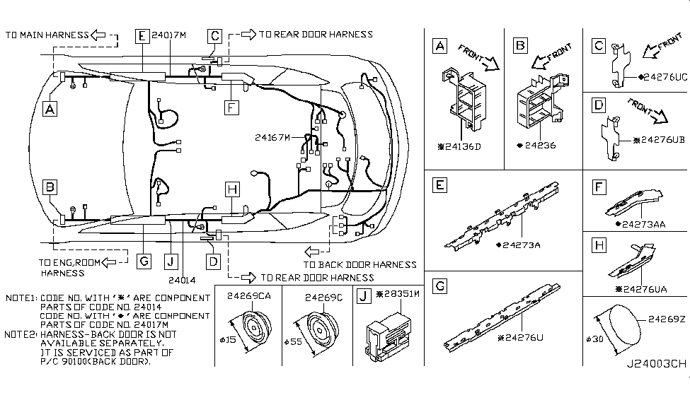 31 2005 Nissan Murano Parts Diagram