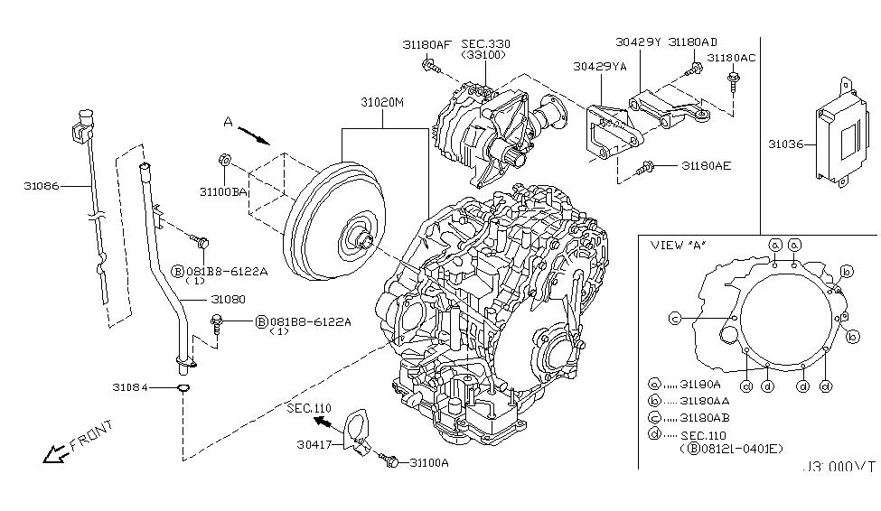 2005 Nissan Murano Auto Transmission,Transaxle & ing