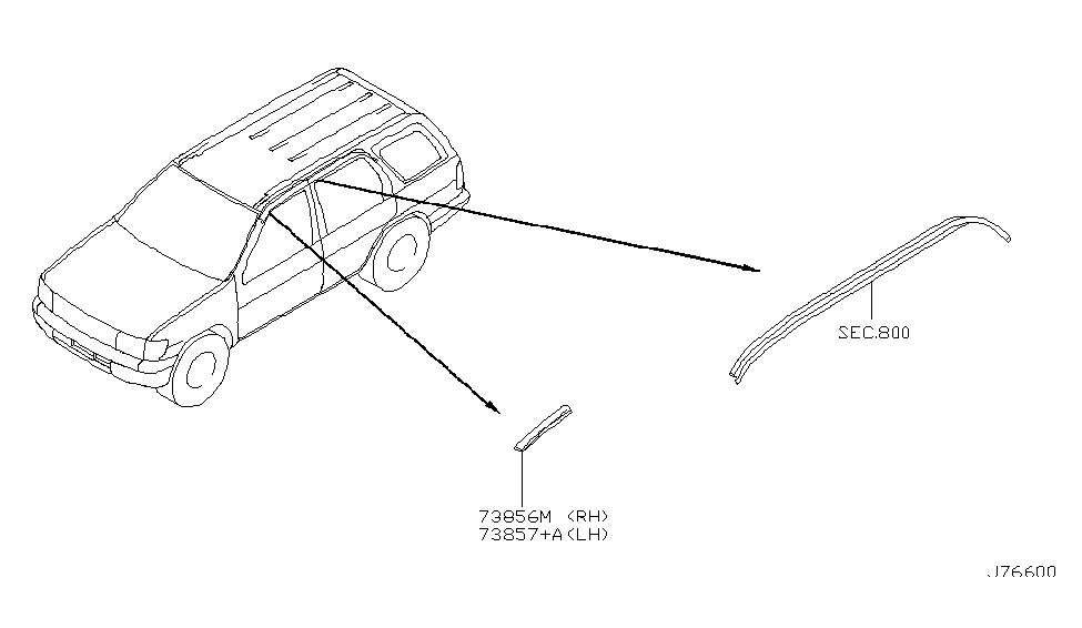 2001 Nissan Pathfinder Body Side Molding - Nissan Parts Deal