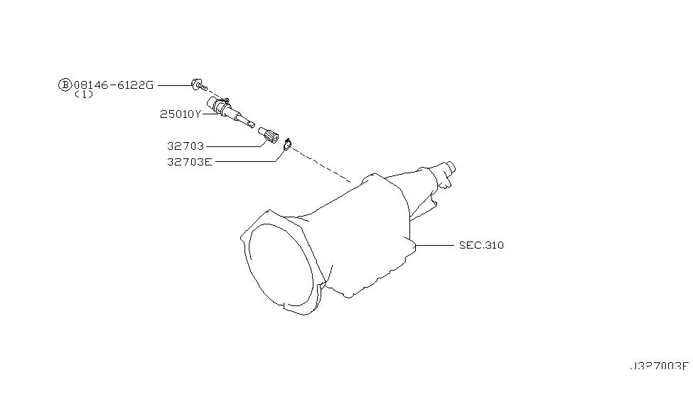 25010 0w100 genuine nissan 250100w100 sensor assy speed meter Nissan Quest Diagram 2001 nissan pathfinder speedometer pinion