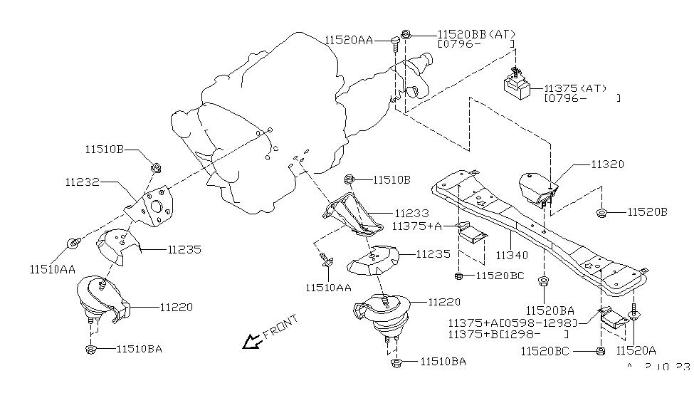 nissan 11220 1w300 2004 Nissan Xterra Engine Diagram V6