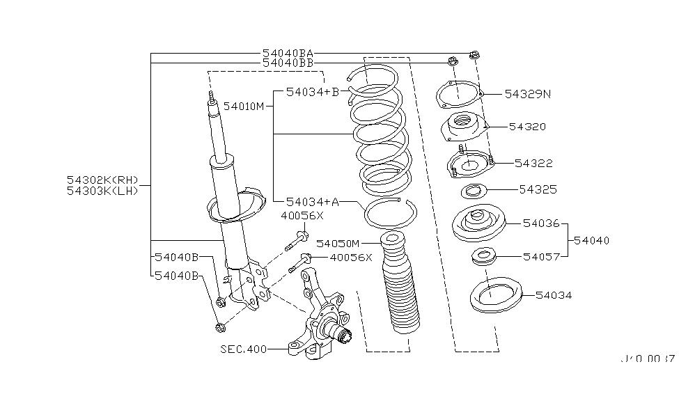 2002 nissan pathfinder front suspension nissan parts deal  2002 nissan pathfinder front suspension thumbnail 1