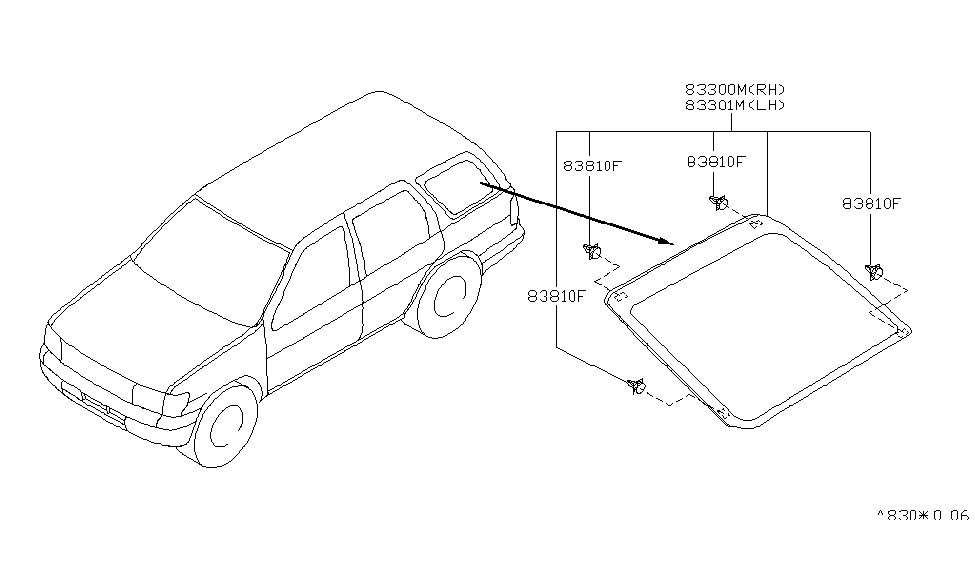 2003 Nissan Pathfinder Side Window - Nissan Parts Deal