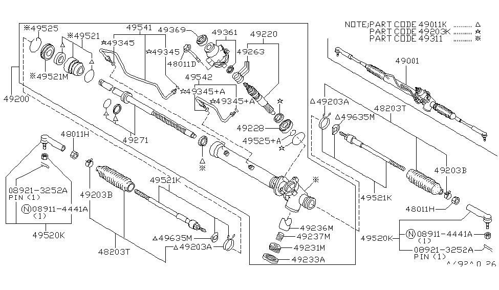 1996 Nissan Pathfinder Power Steering Gear Nissan Parts Deal