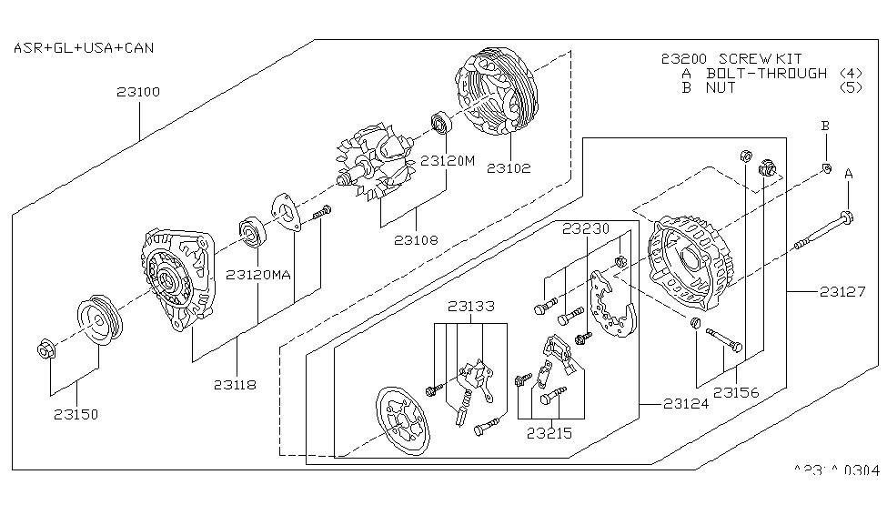 1997 Nissan Pathfinder Alternator