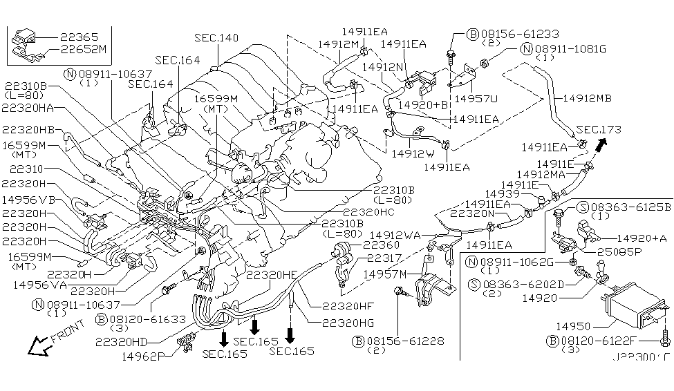 14956 1p101 genuine nissan 149561p101 valve assy solenoid altima exhaust diagram
