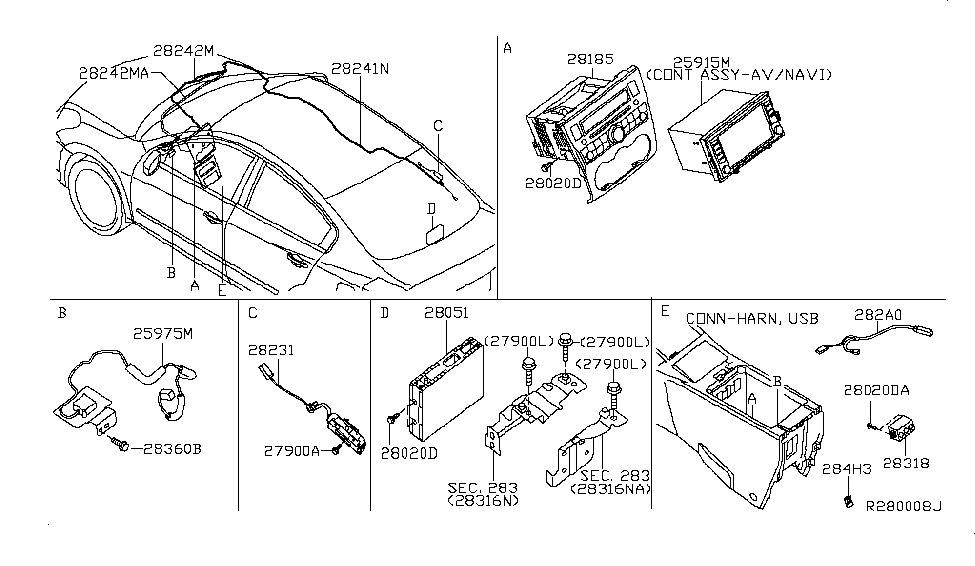 Nissan Parts Diagram Model 28185 8z500. 28185 9ha0a genuine nissan  281859ha0a deck cd. 28023 9ks0a genuine nissan 280239ks0a aux jack audio.  28185 1sx0a genuine nissan 281851sx0a deck cd. 28185 9ch0a genuine nissanA.2002-acura-tl-radio.info. All Rights Reserved.
