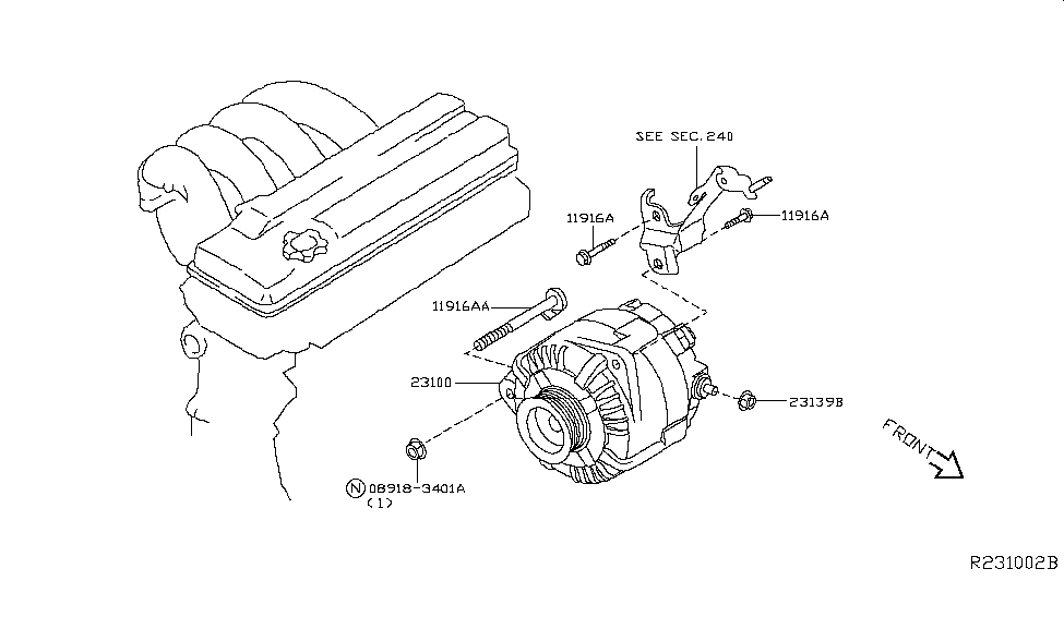 23100 ja04d genuine nissan 23100ja04d alternator assy. Black Bedroom Furniture Sets. Home Design Ideas