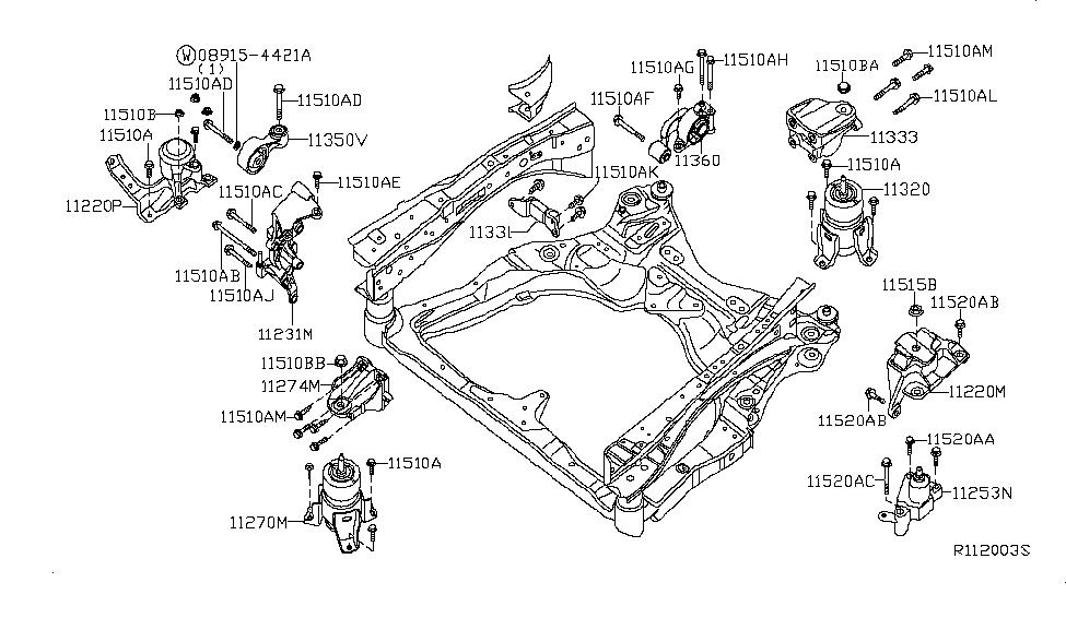 11253 ja000 genuine nissan parts rh nissanpartsdeal com nissan altima 2012 engine parts diagram 2013 nissan altima engine diagram