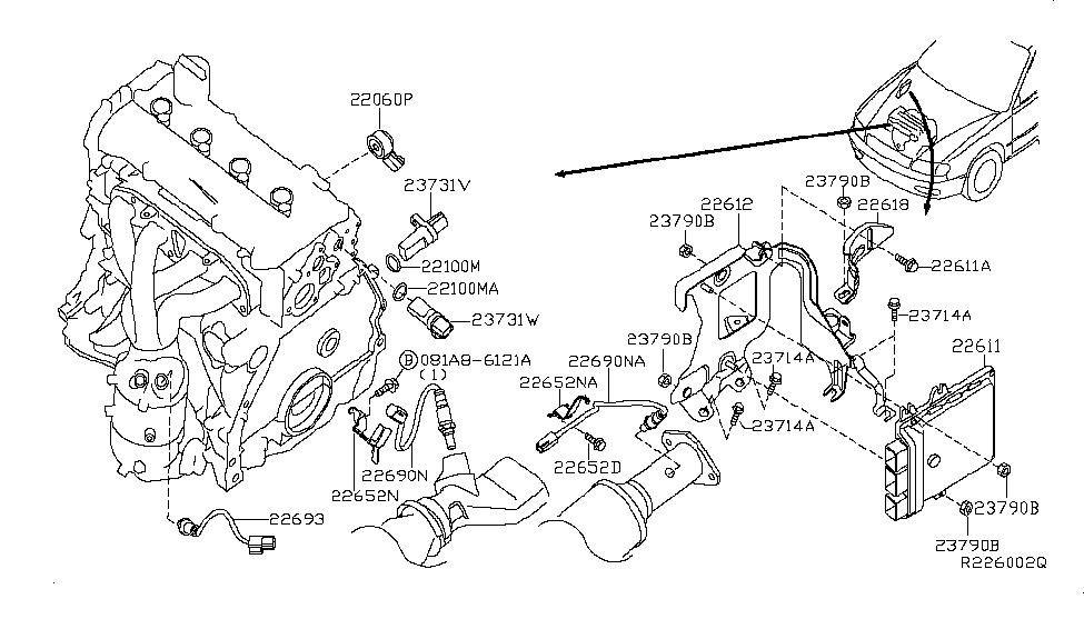 23710-JB19A | Genuine Nissan #23710JB19A ENGINE CONTROL MODULE
