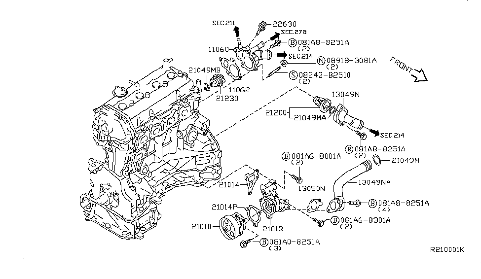 Nissan Altima Thermostat Diagram