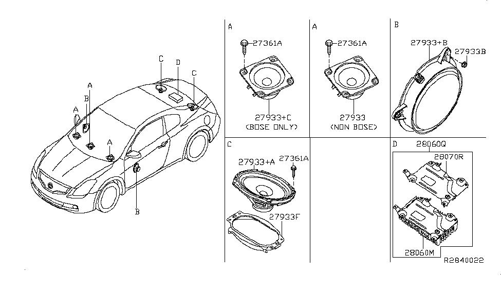 28154-JB10A | Genuine Nissan #28154-JB10A SPEAKER UNIT, 4 INCH