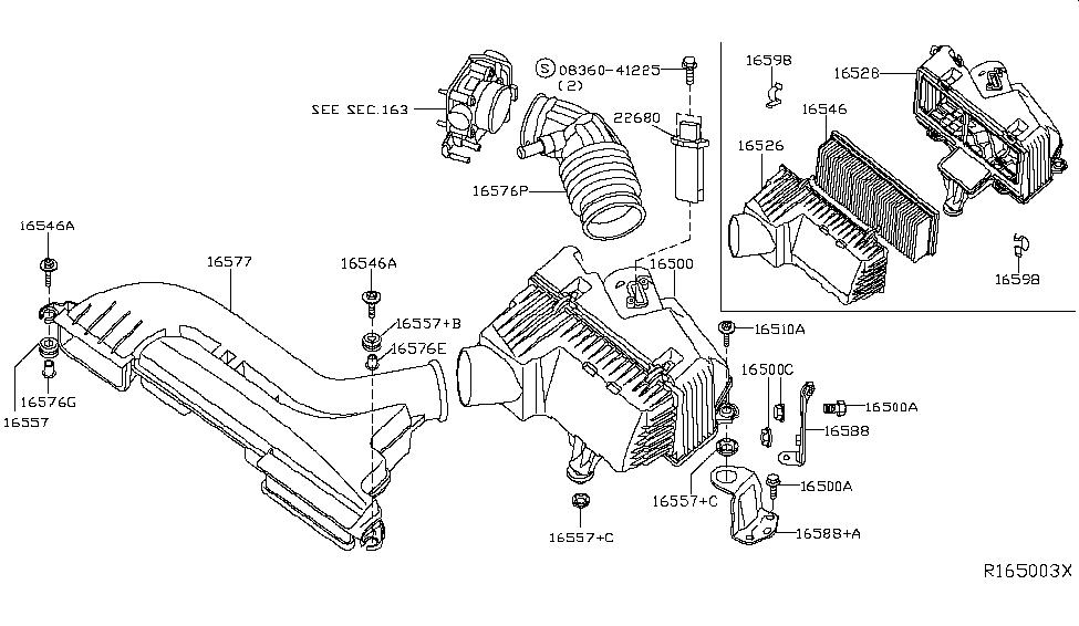 2008 altima engine diagram 2008 nissan altima coupe air cleaner nissan parts deal  2008 nissan altima coupe air cleaner