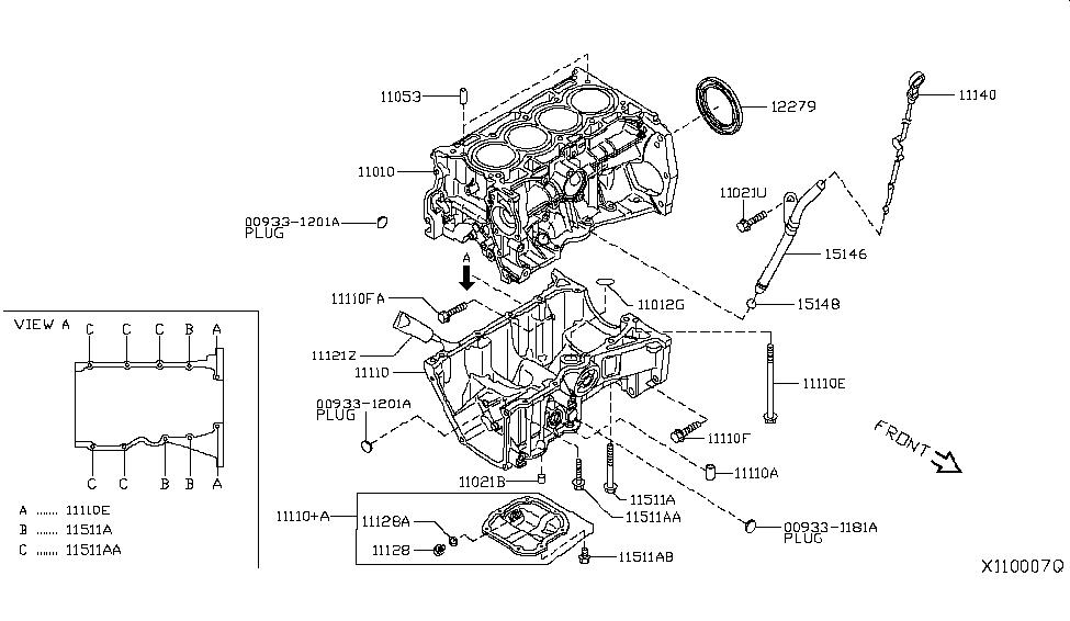 2019 Nissan Kicks Cylinder Block & Oil Pan - Nissan Parts Deal