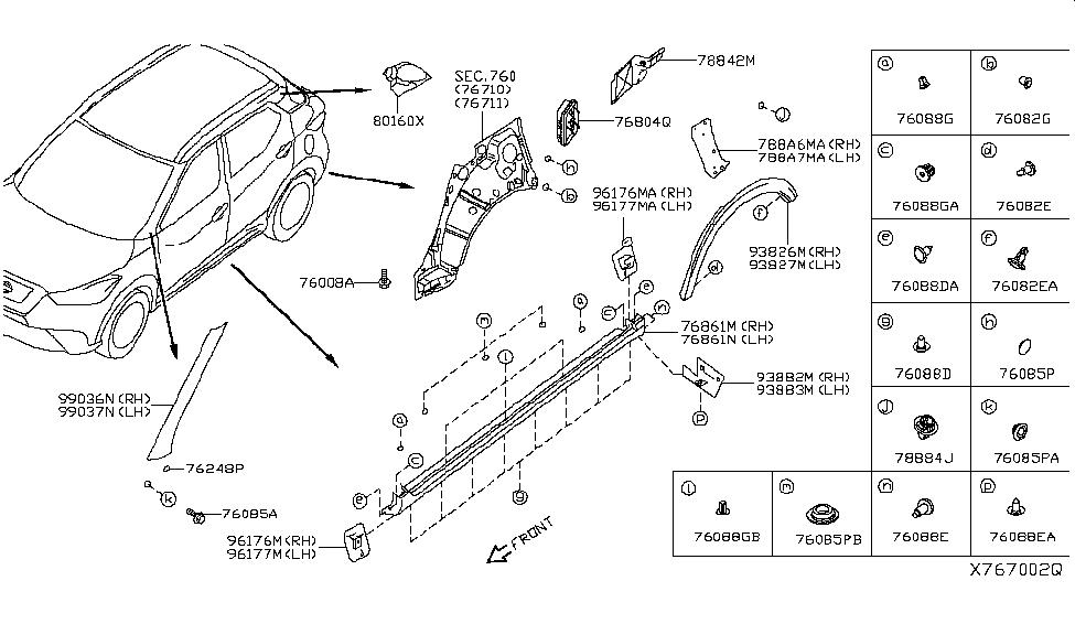 2019 Nissan Kicks Body Side Fitting - Nissan Parts Deal