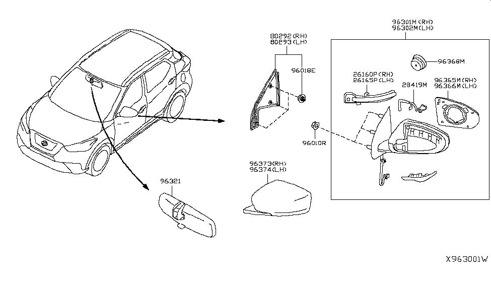 2019 Nissan Kicks Rear View Mirror - Nissan Parts Deal