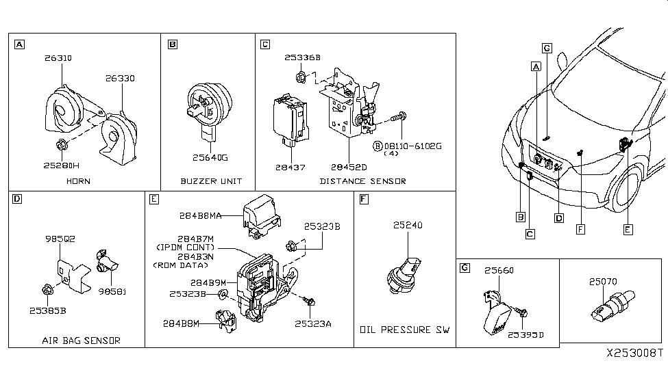 Nissan Cube Murano Rogue Titan Versa Engine Oil Pressure Switch Genuine Fits