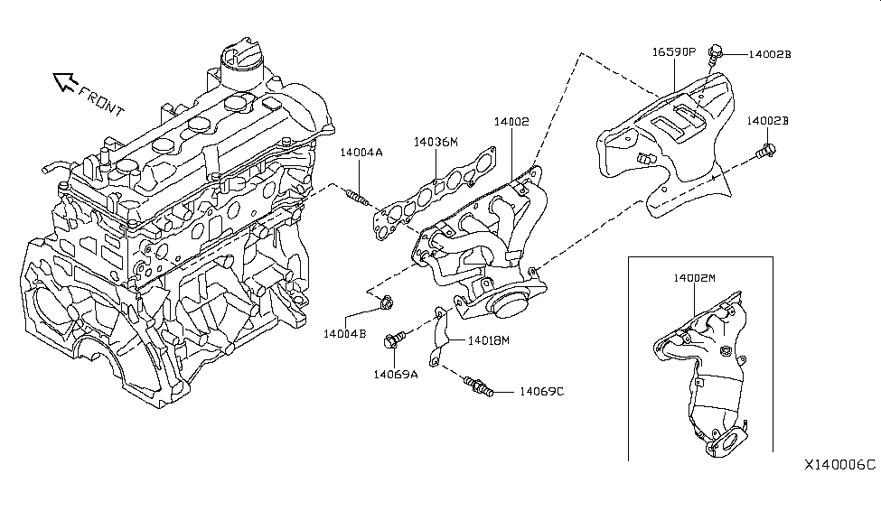 Nissan Cover Exhaust M 16590 3hc0a moreover Parts 174 Nissan Front Suspension also Nissan Tiida Wiring Diagram likewise Versa Parts Diagram together with . on 2015 versa sedan