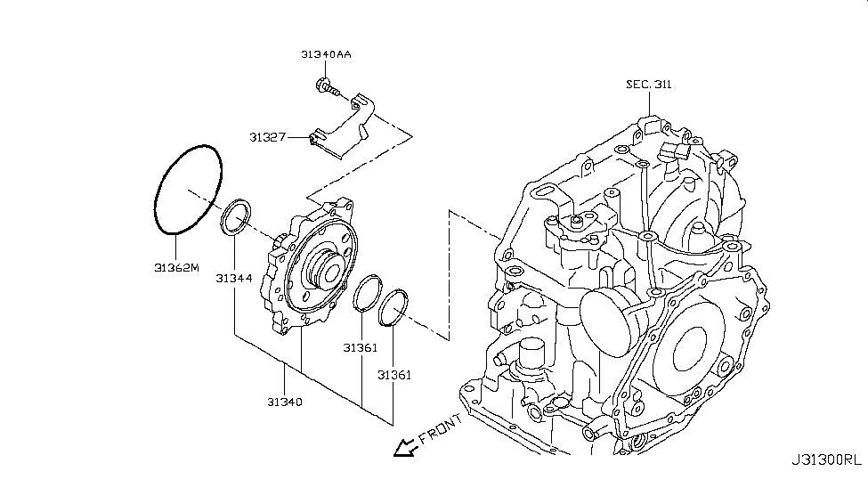 2016 Nissan Versa Sedan Engine Oil Pump - Nissan Parts Deal