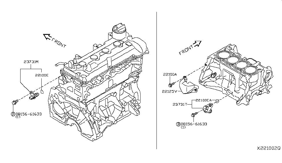 2017 Nissan Versa Sedan Distributor & Ignition Timing Sensor