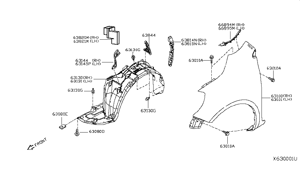 638433BA0A  Genuine    Nissan    Parts